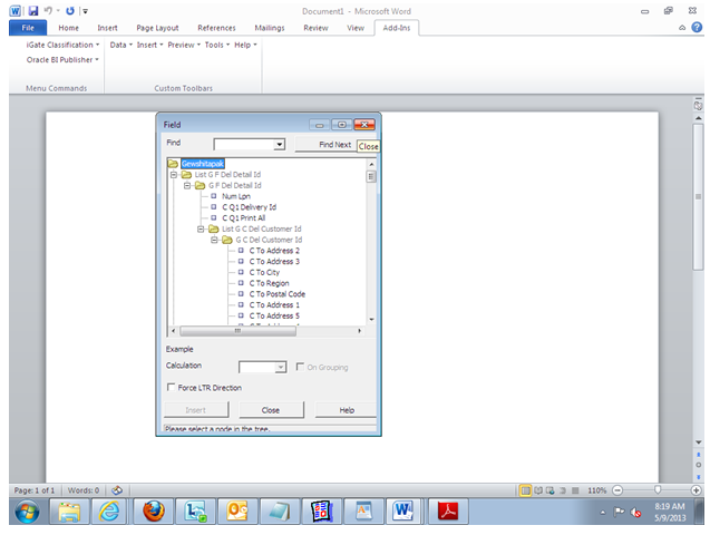 Get Oracle Apps: Steps to create rtf template in BI Publisher