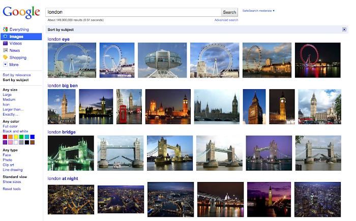 В поиске Google по картинкам появится сортировка по темам