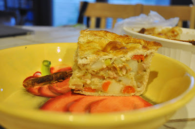 Recipe: Easy and light chicken, potato and leek pot pie