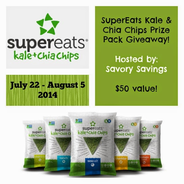 SuperEats Kale & Chia Chips Giveaway