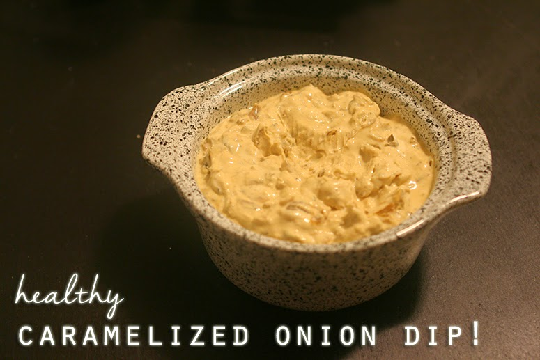 Caramelized onion dip made with Chobani