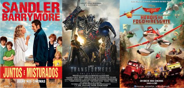 Estreias da semana (17/07): Transformers: A Era da Extinção, Juntos e Misturados & Aviões – Heróis do Fogo ao Resgate