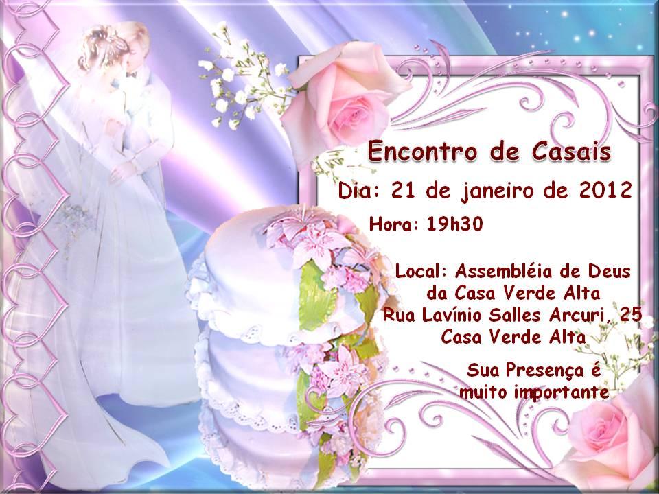 CONVITE ENCONTRO DE CASAIS