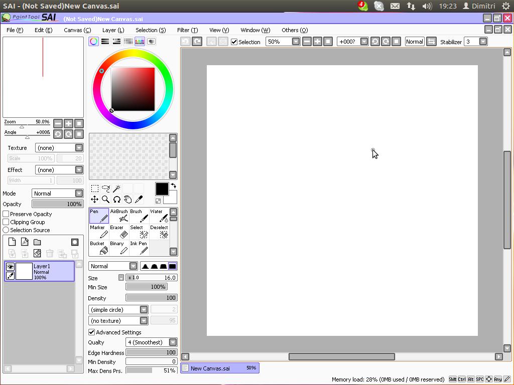 Как в paint tool sai сделать ровный круг