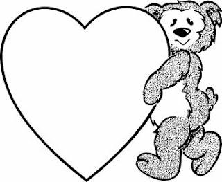 Dibujos para colorear del 14 de febrero dia del amor y la amistad