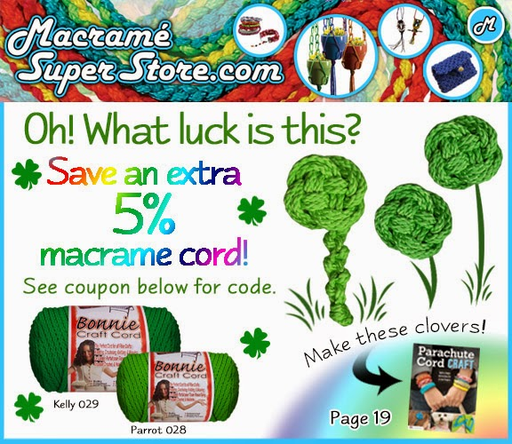 Lucky Macrame Sale now through March 31st @ MacrameSuperStore.com