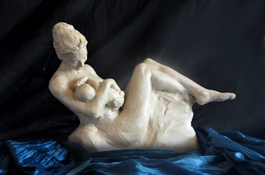 Mother (oil-based clay, in progress)