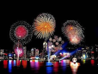 Gambar Kembang Api Tahun Baru 2016 Hongkong Fireworks Happy New Year HD Wallpaper