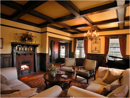 Arts and crafts living room design ideas room design ideas for Craftsman style living room furniture