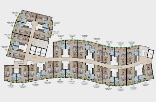Ecociti :: Floor Plans,Typical Plan of Studio Tower