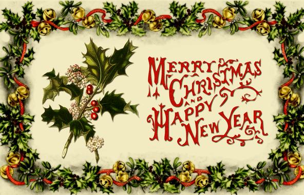 vintage christmas card by gild