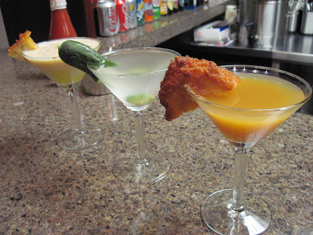 2nd Avenue Deli New York City Apple Latke Martini, Dirty Pickle Martini, Lokshen Kugel Cocktail