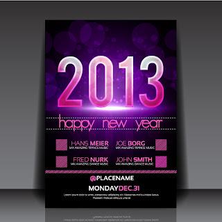 新年用フライヤー テンプレート 2013 New Year flyer templates イラスト素材3