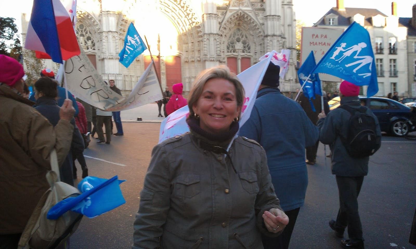 Nantes manifestation pour la défense des familles