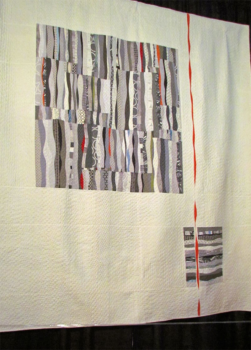 My favorite quilt at Houston Quilt Festival 2014:  Fade Into Gray by Stephanie Ruyle