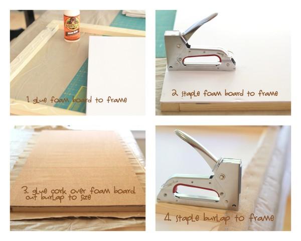 Crafty Sisters Burlap Message Board Ballard Designs Knock Off
