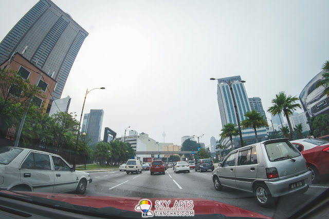 The air condition was already hazy when I heading to KL Tower