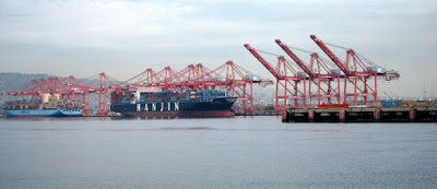 Photo of ships and cranes at the Port of Long Beach