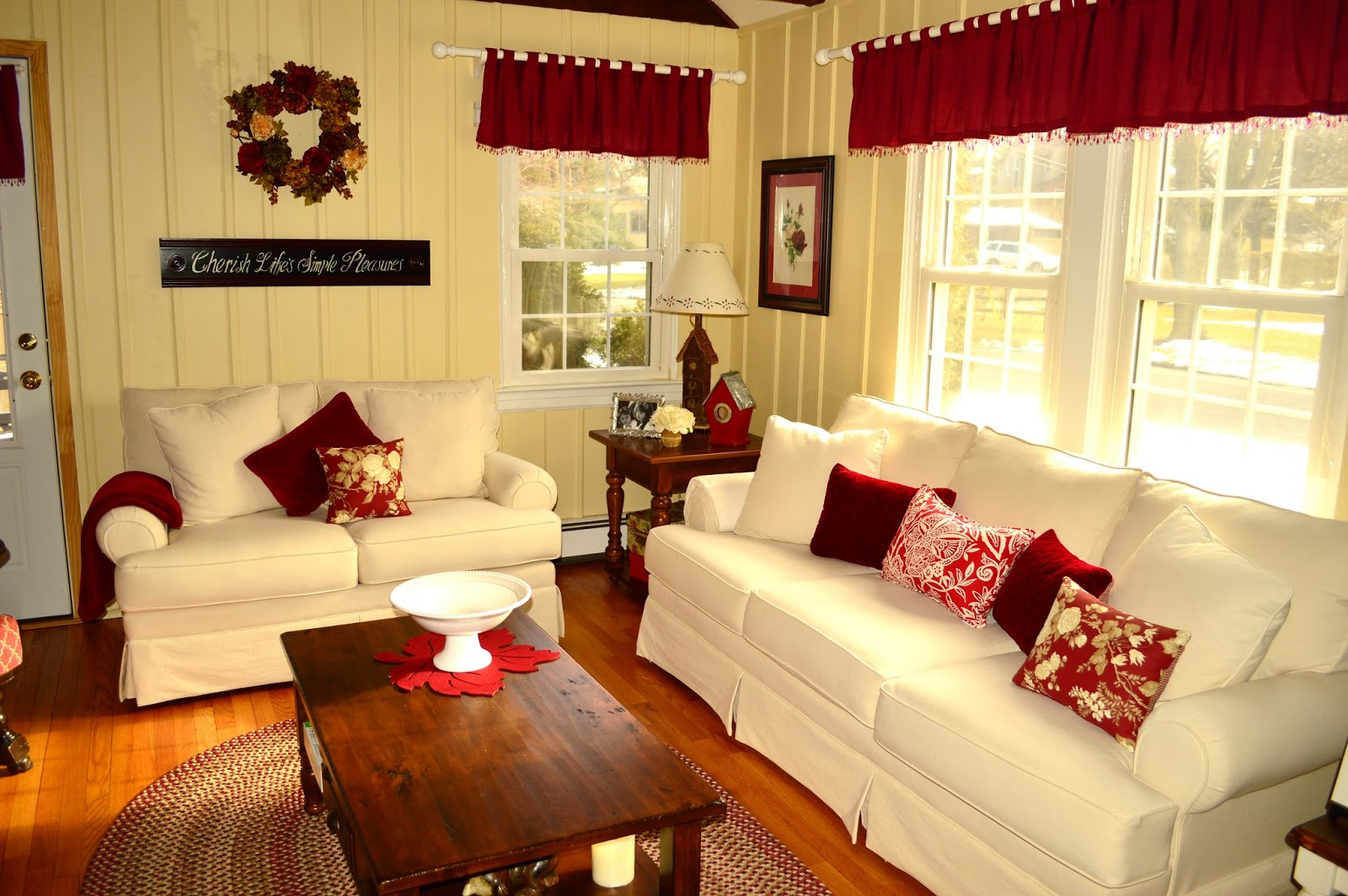 Decorating cheats embellishing store bought curtains exquisitely unremarkable for Do it yourself living room decor