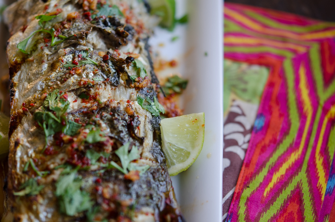 Grilled Fish with Soy Lime Chili Sauce 7   Korean Recipes