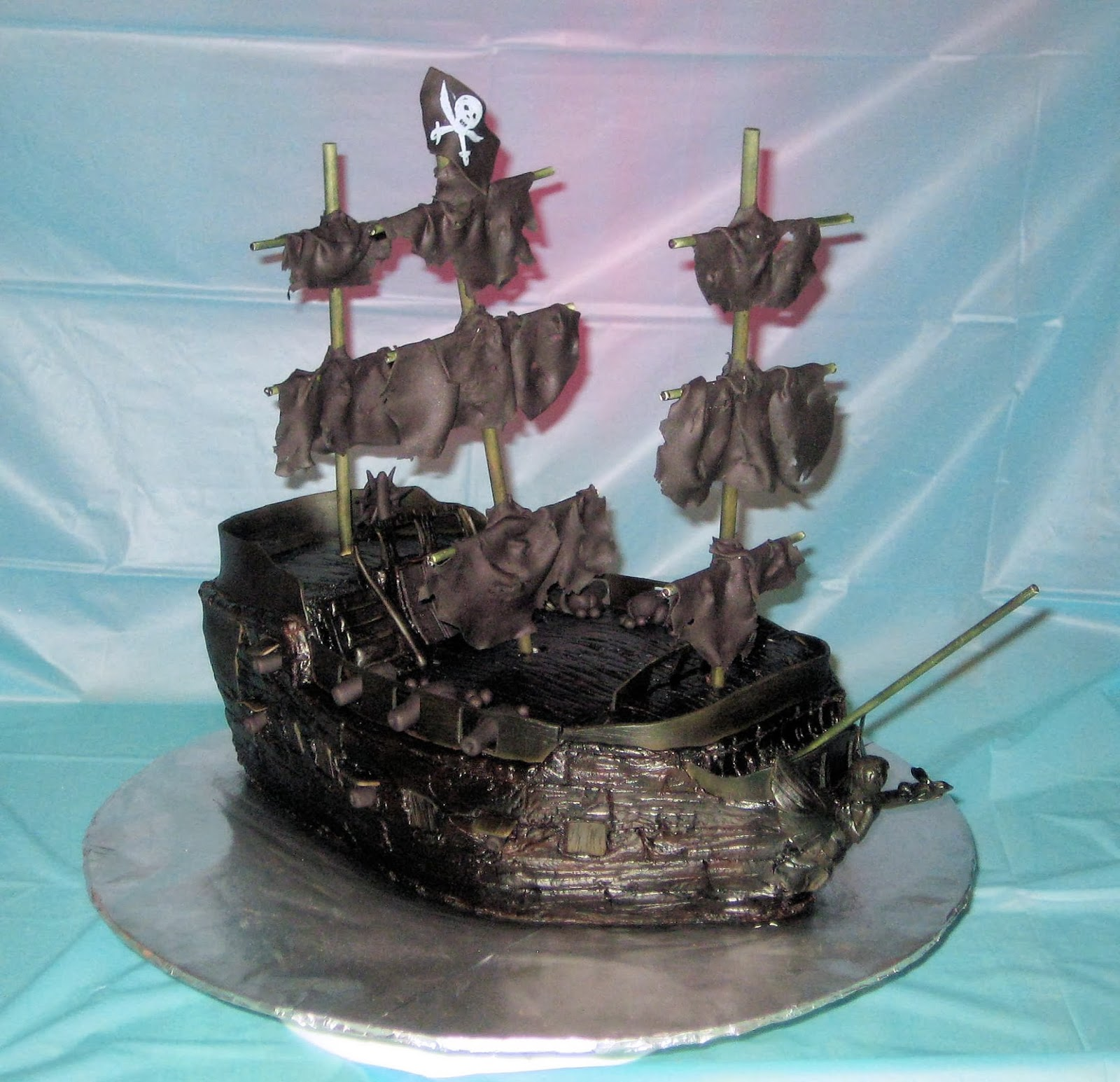 My Cake Corner The Black Pearl Pirate Ship Cake July 2013