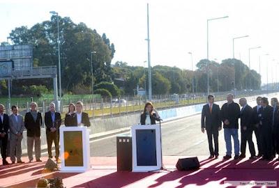 Inauguración autopista Illia