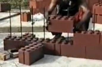 Mattoni di plastica da giardino terminali antivento per stufe a pellet - Cornici per finestre in mattoni ...
