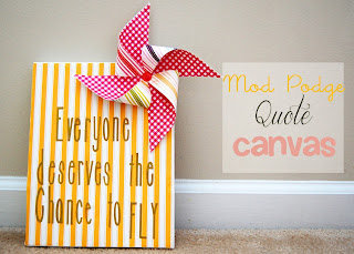 Mod Podge Quote Canvas from Southern Lovely