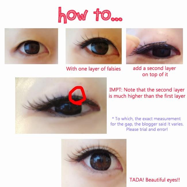 how to put on fake individual eyelashes with glue