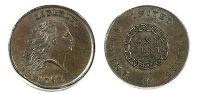 Moeda rara de um centavo de 1793 é vendido por US $ 1 milhão