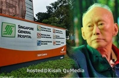 Foto Lee Kuan Yew Ketika Sakit Dan Ketika Meninggal Dunia