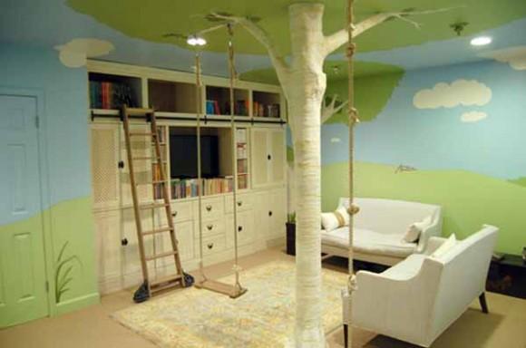 Dise o de habitaci n para ni os con una casa en el arbol - Diseno de una habitacion ...