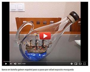 barco en botella galeon español