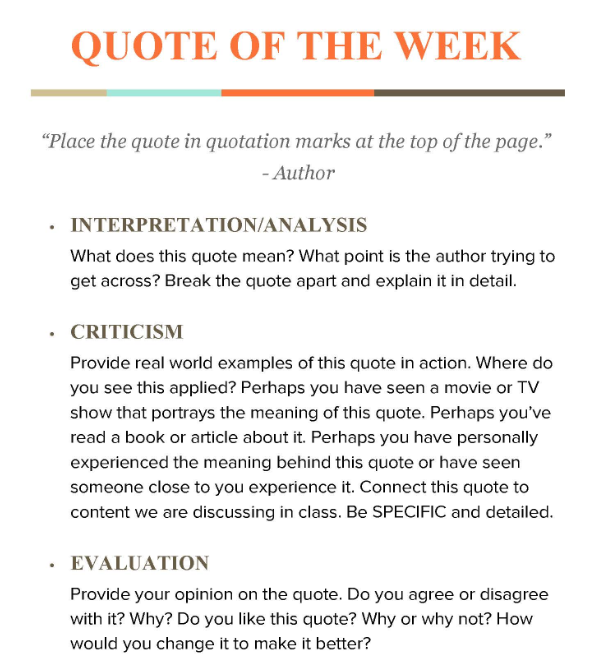 quote of the week the positive educator