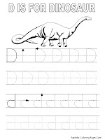 Alphabet Tracer Pages D Dinosaur