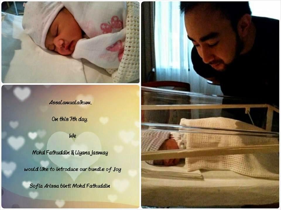 Sofia Arissa Nama Penuh Anak Sulung Liyana Jasmay