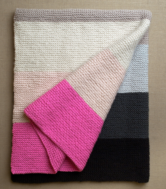 Knit And Purl Stitch Baby Blanket : Knitionary: easy and free: simply beautiful baby blankets to knit