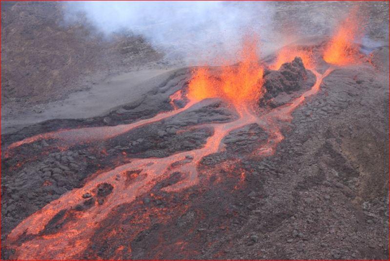 Volcano Eruption -Piton de la Fournaise volcano, Reunion