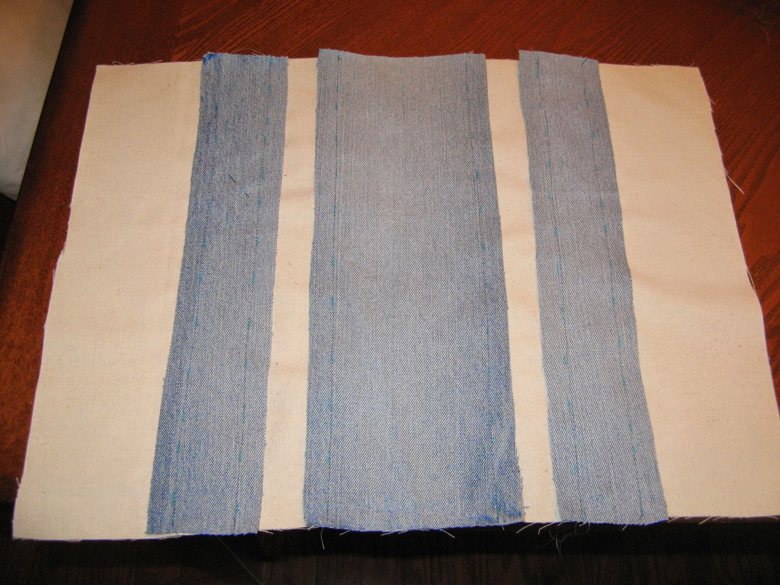 Denim Rag Pillow - Step 2