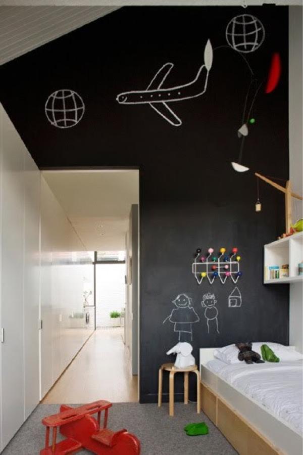 Black+wall+sleeping+room