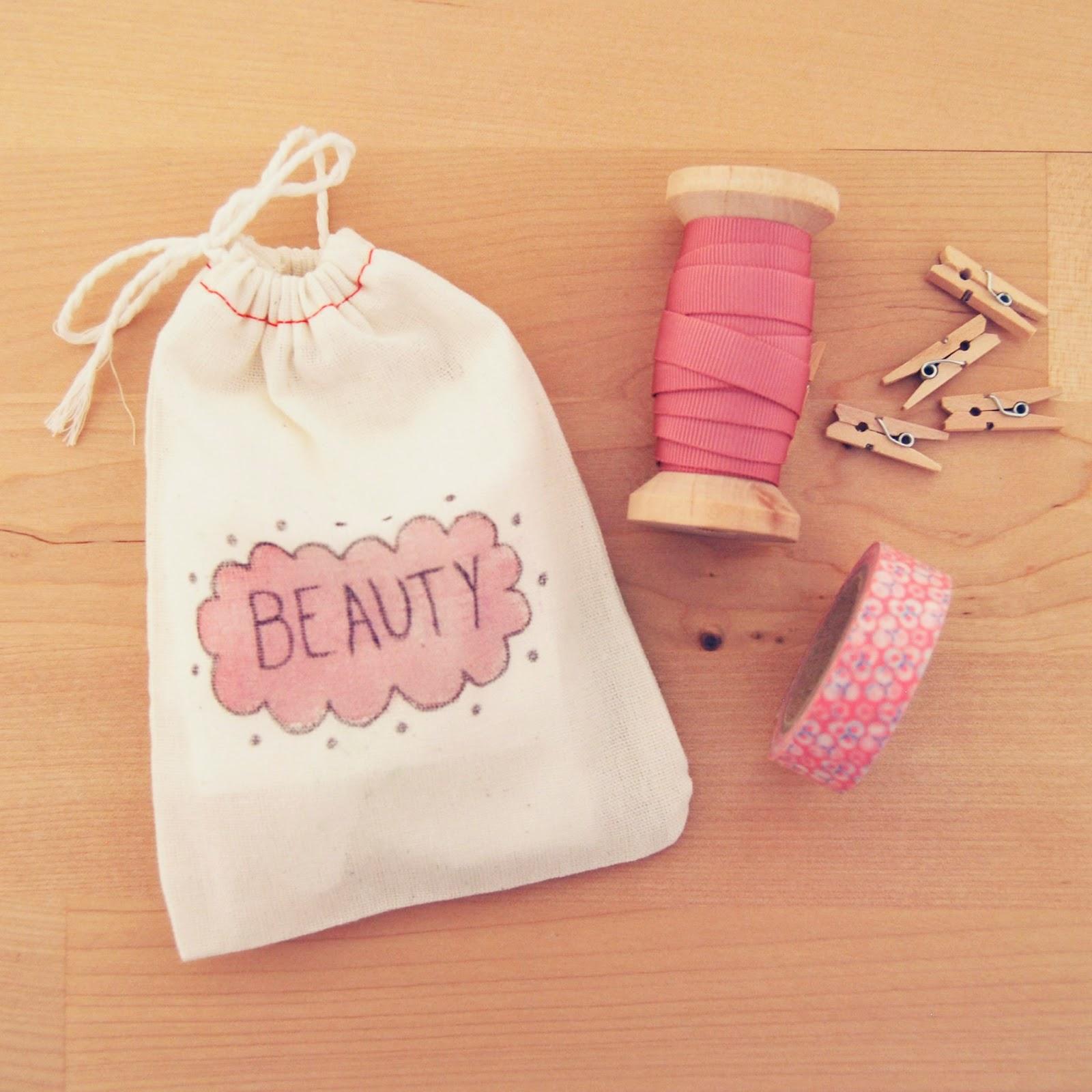 Mimosa y estraza blog idea decorar bolsas de muselina - Bolsas para decorar ...