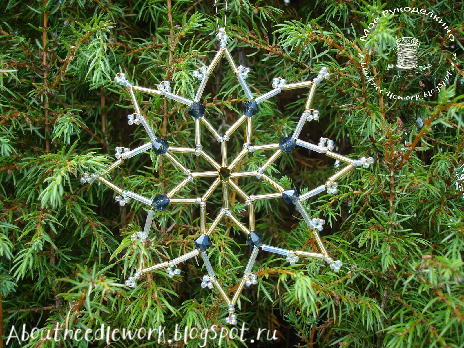 Бисероплетение: снежинка
