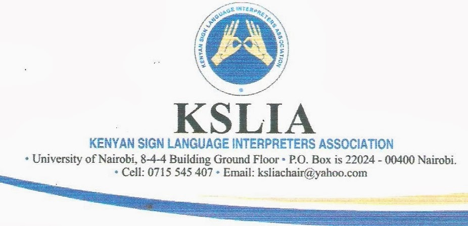 Kenyan Sign Language Interpreters Association - (KSLIA)