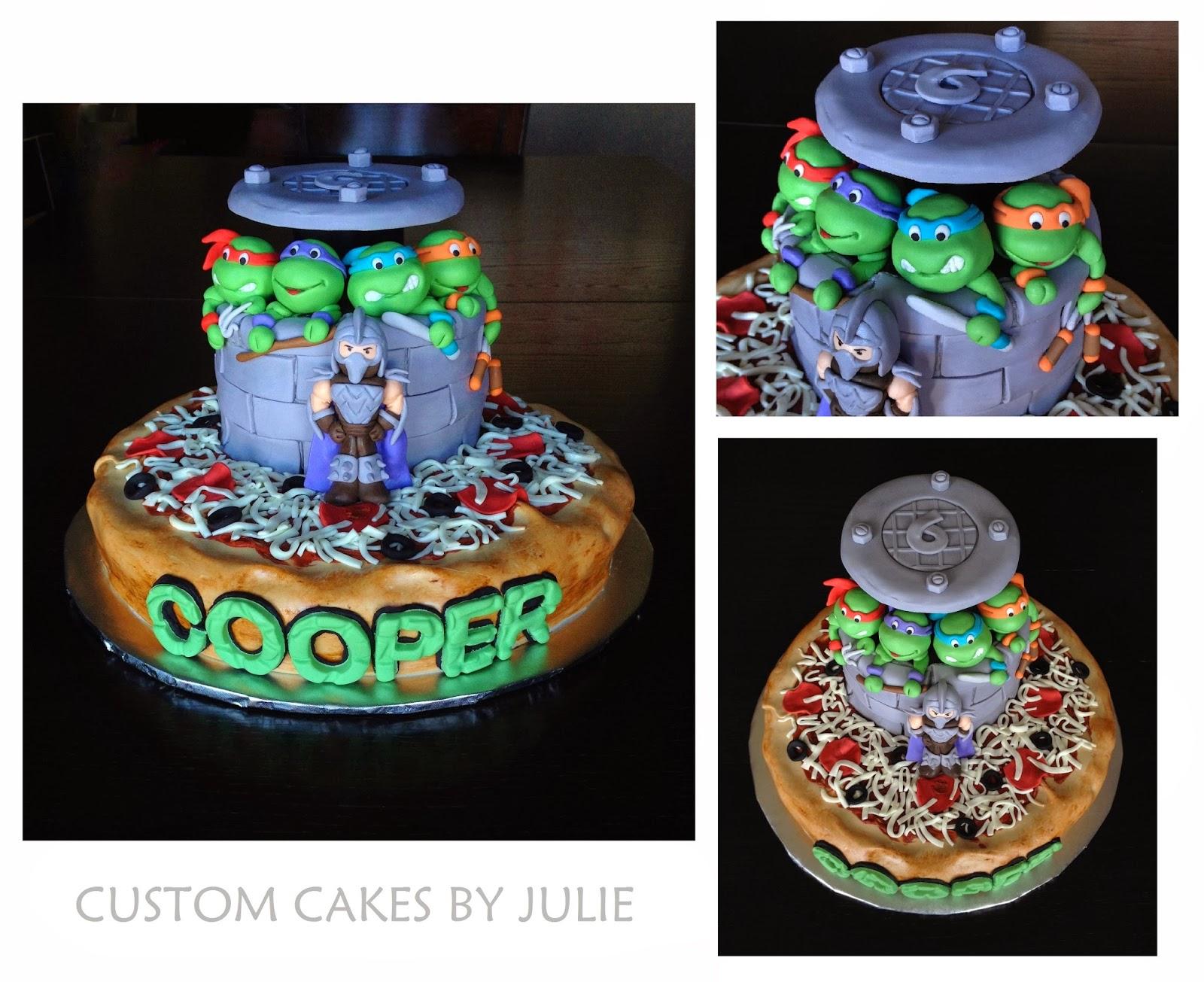 Custom Cakes by Julie Teenage Mutant Ninja Turtle Cake