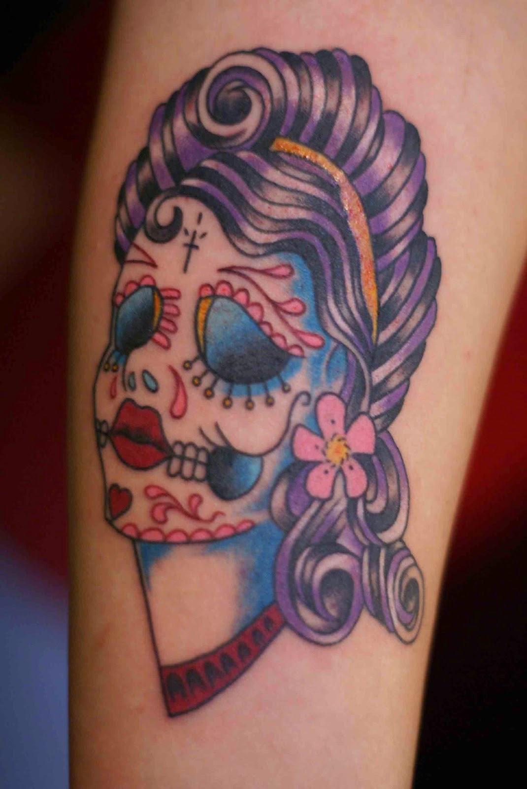 Sugar Skull And Crown Tattoo Skull tattoo designs