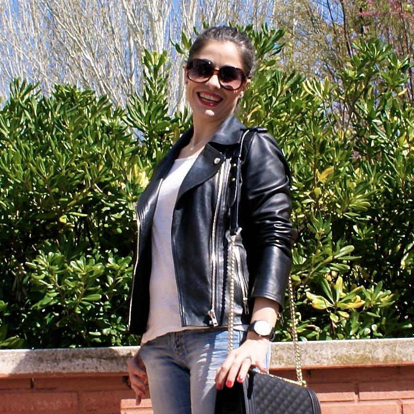 Vanessa Martinez, LaCaprichossa - perfecto jacket and boy bag