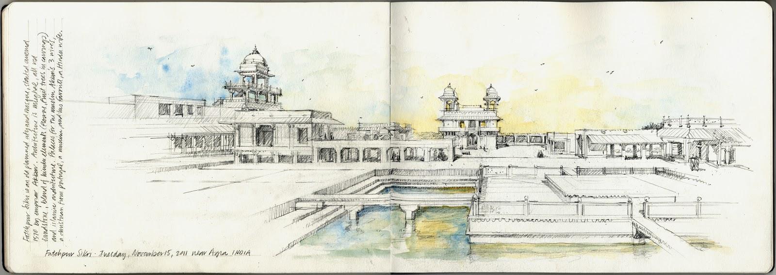 Krob award for travel sketch to india