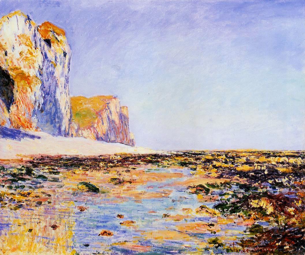 Plage et falaises à Pourville, effet matin (1882)