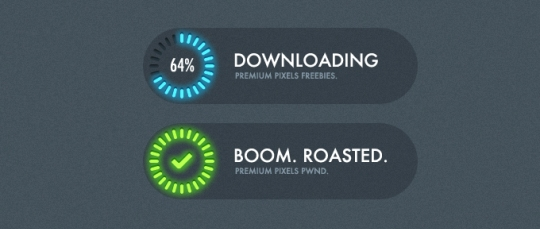 Progress Loading Indicators PSD