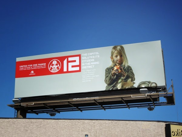 Hunger Games Mockingjay District 12 propaganda billboard